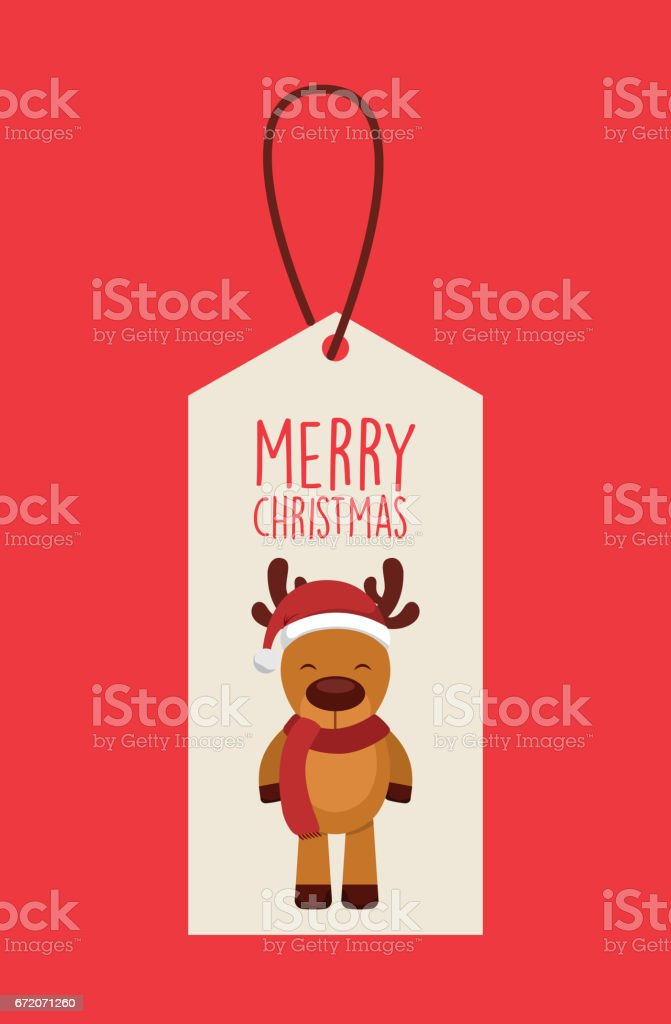 happy merry christmas card vector art illustration