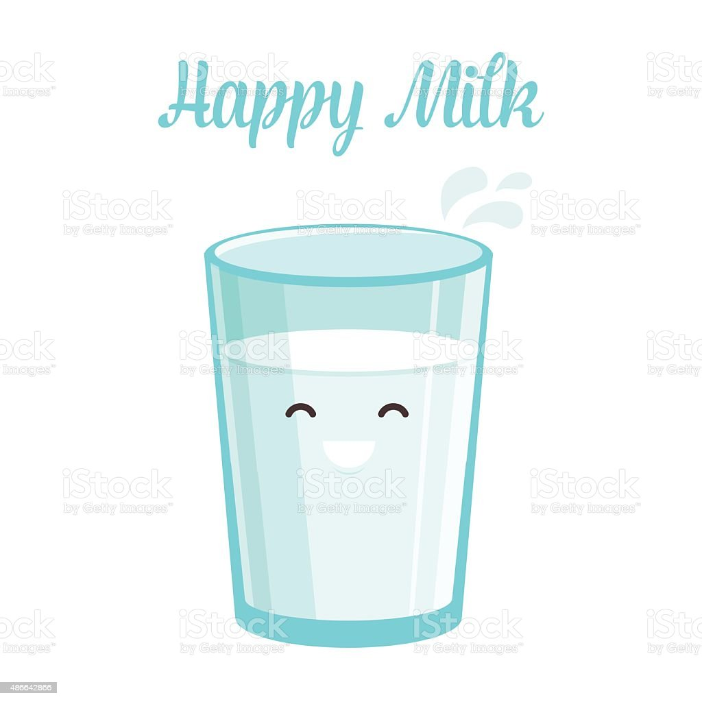 Happy Milk vector art illustration