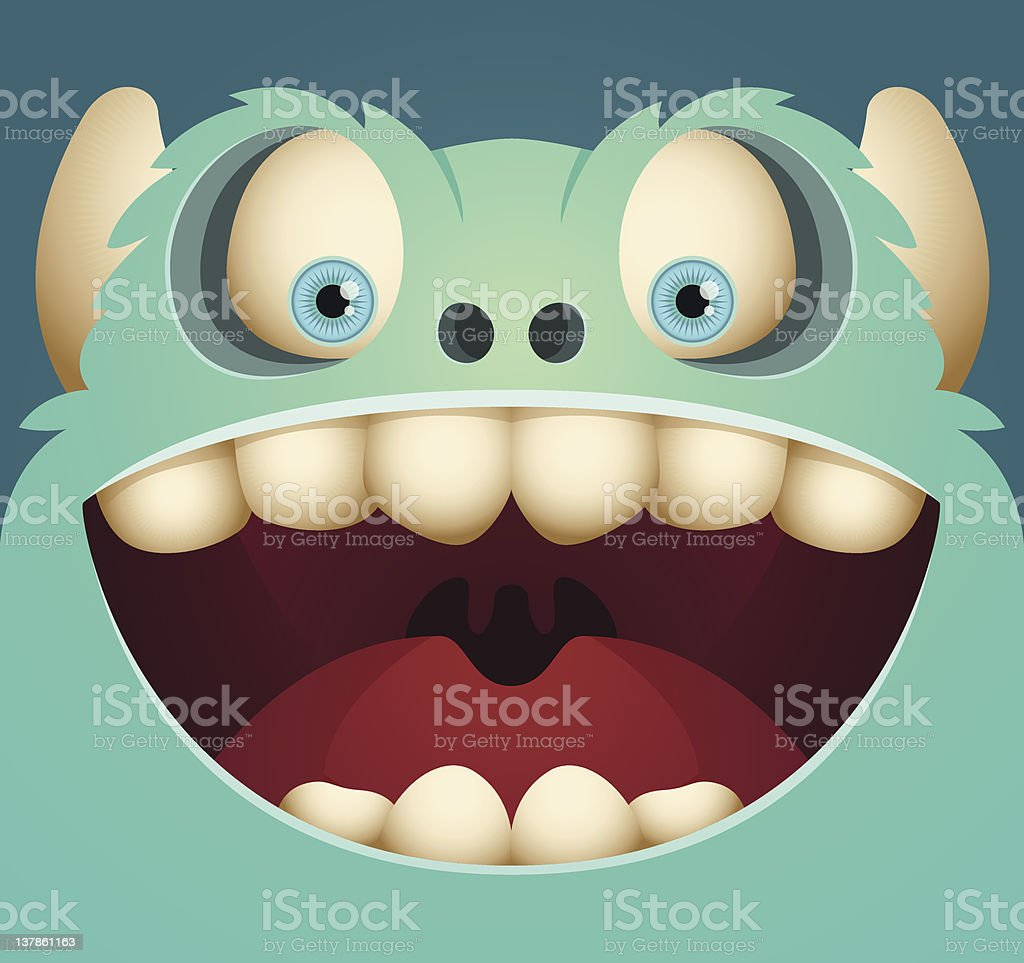 Happy Monster royalty-free stock vector art