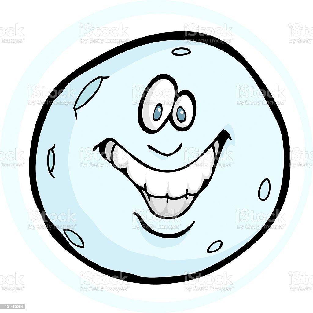 Happy Moon vector art illustration