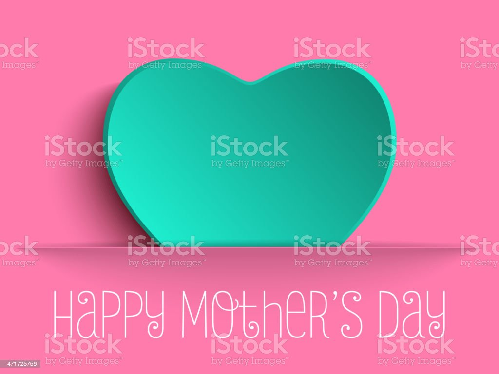 Happy Mother Day Heart Background vector art illustration