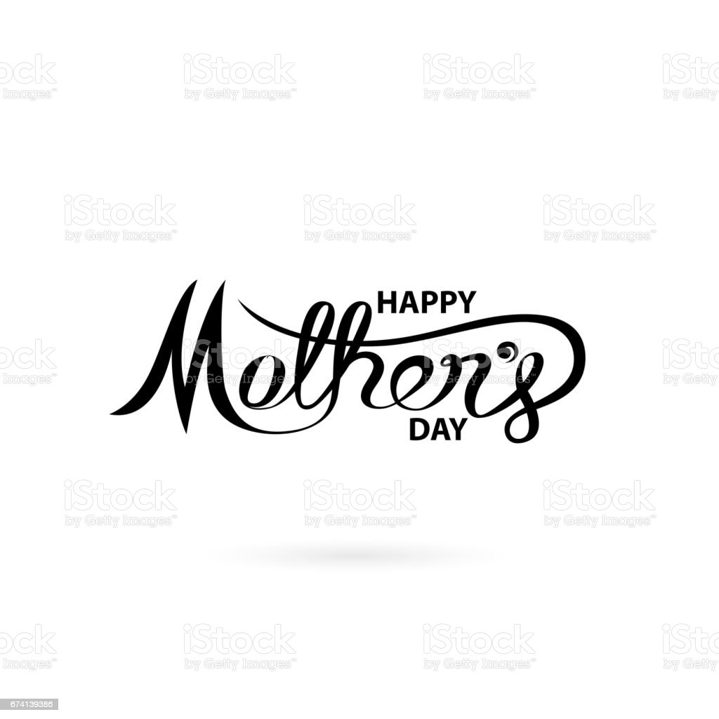 happy mothers day calligraphy backgroundhappy mothers day
