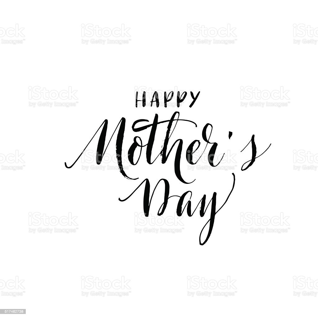 Happy Mothers Day card. vector art illustration