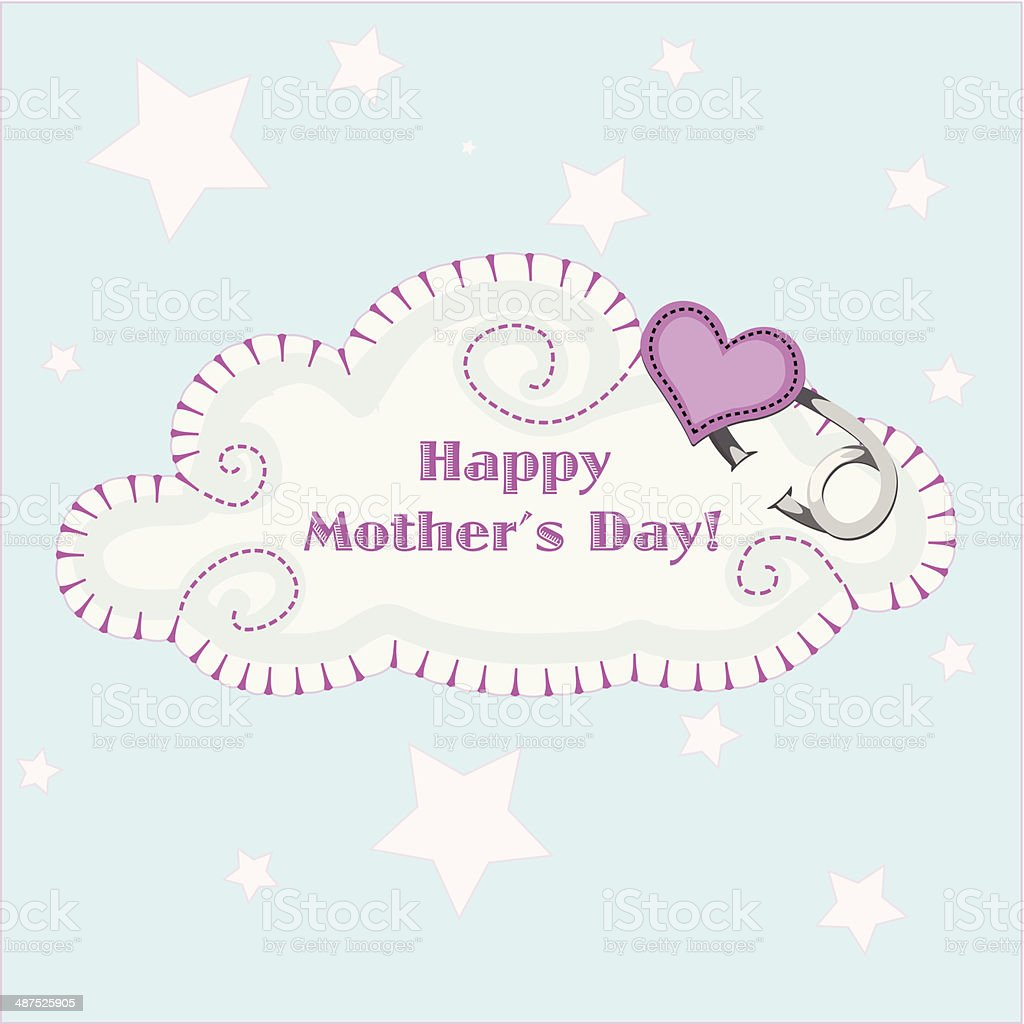Happy mother's day Cloud royalty-free stock vector art