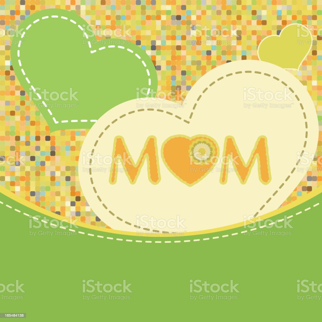 Happy Mother's Day. EPS 8 royalty-free stock vector art