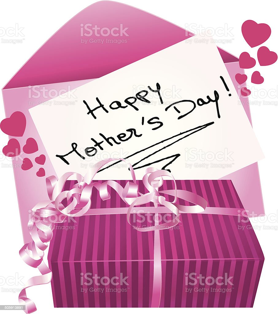 Happy mother's day gift and greeting card. vector art illustration