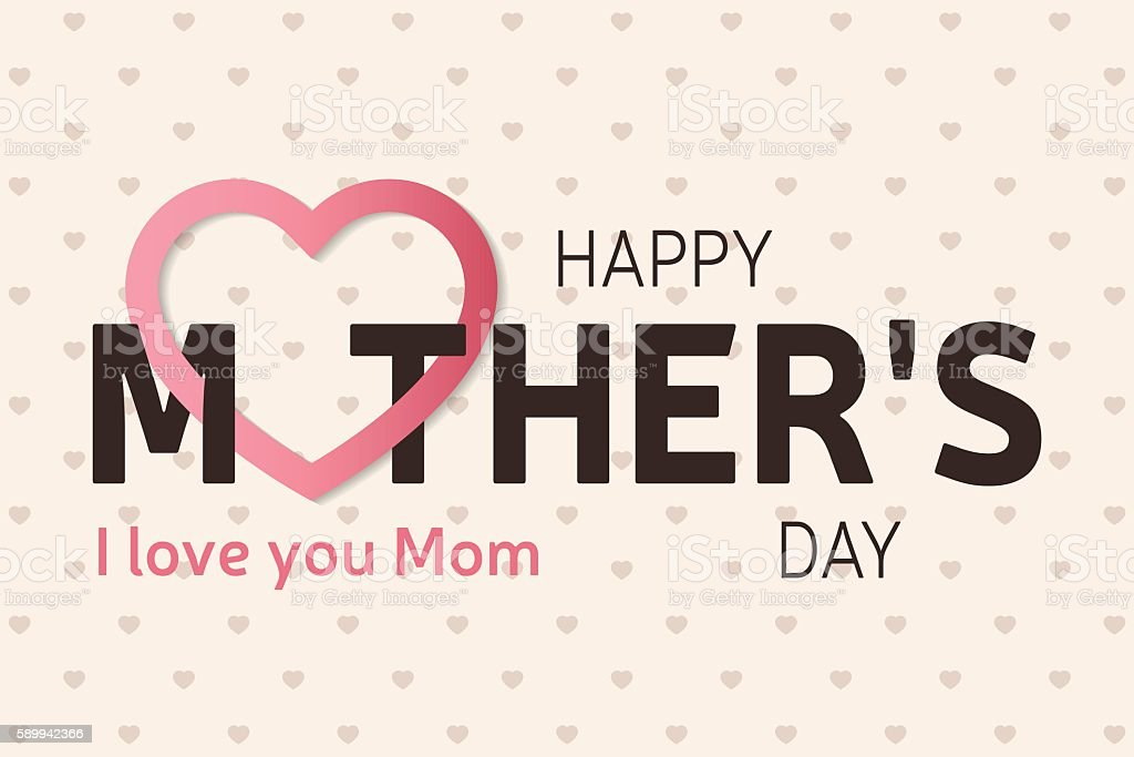 Happy Mother\'s Day greeting card. Vector illustration.