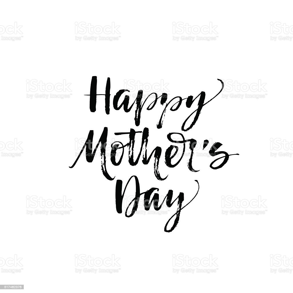 Happy Mother's day phrase. vector art illustration