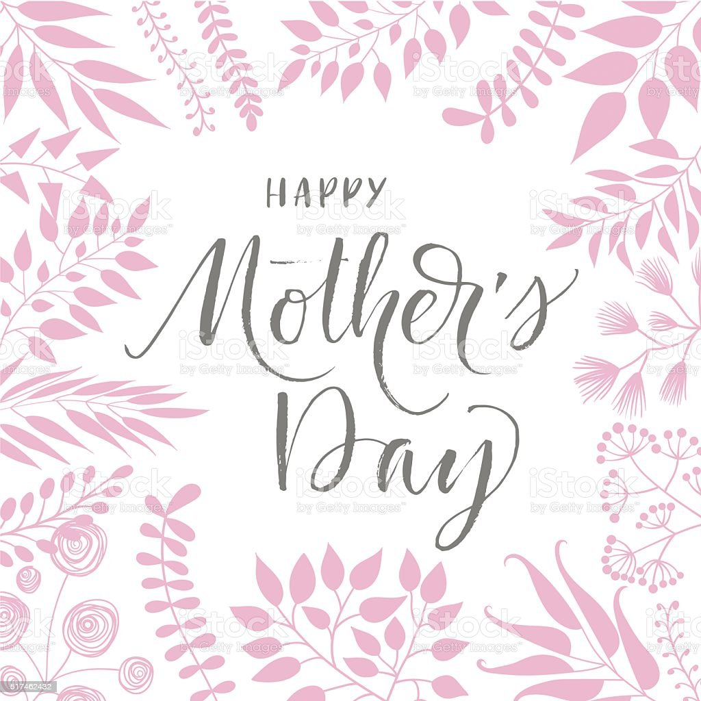 Happy Mothers Day poster. vector art illustration