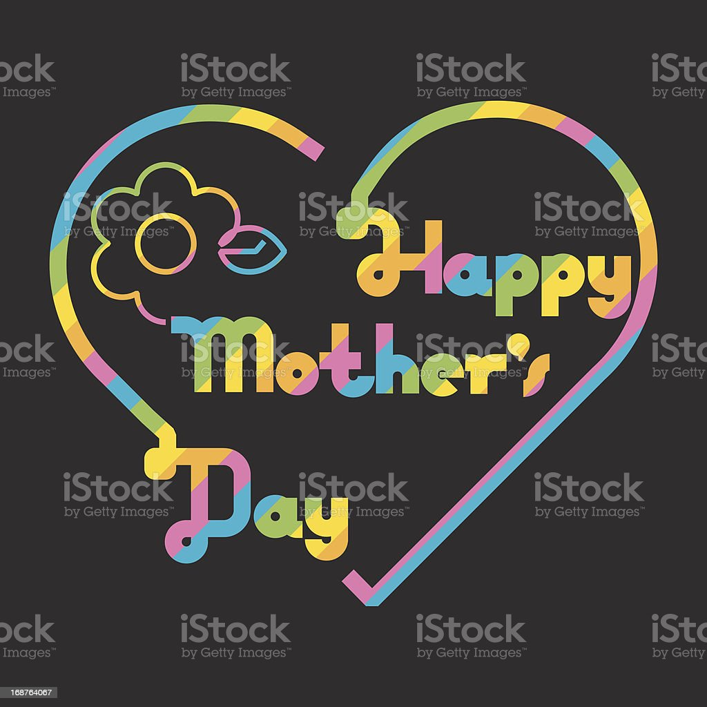Happy mother's day royalty-free stock vector art