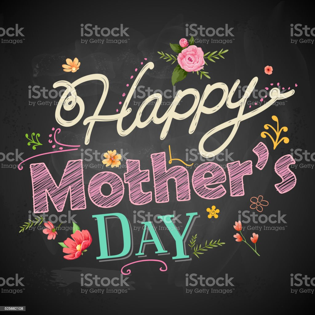 Happy Mothers Day vector art illustration