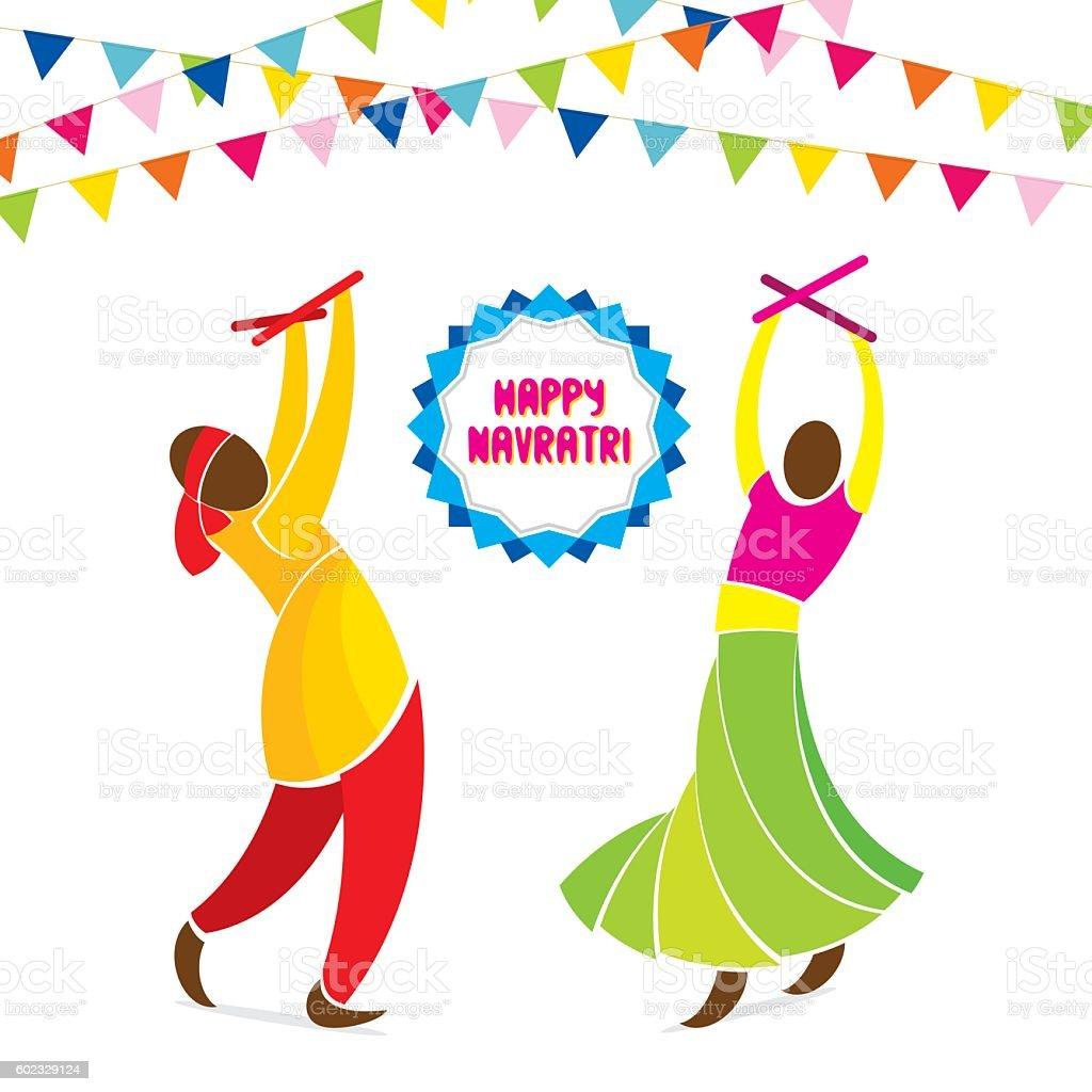 Happy Navratri Festival Design stock vector art 602329124 ...