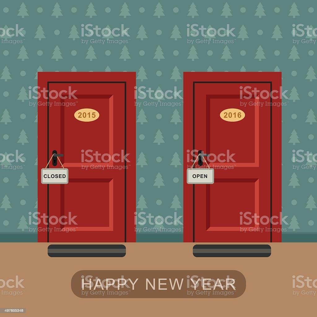 Happy new 2016 year vector art illustration