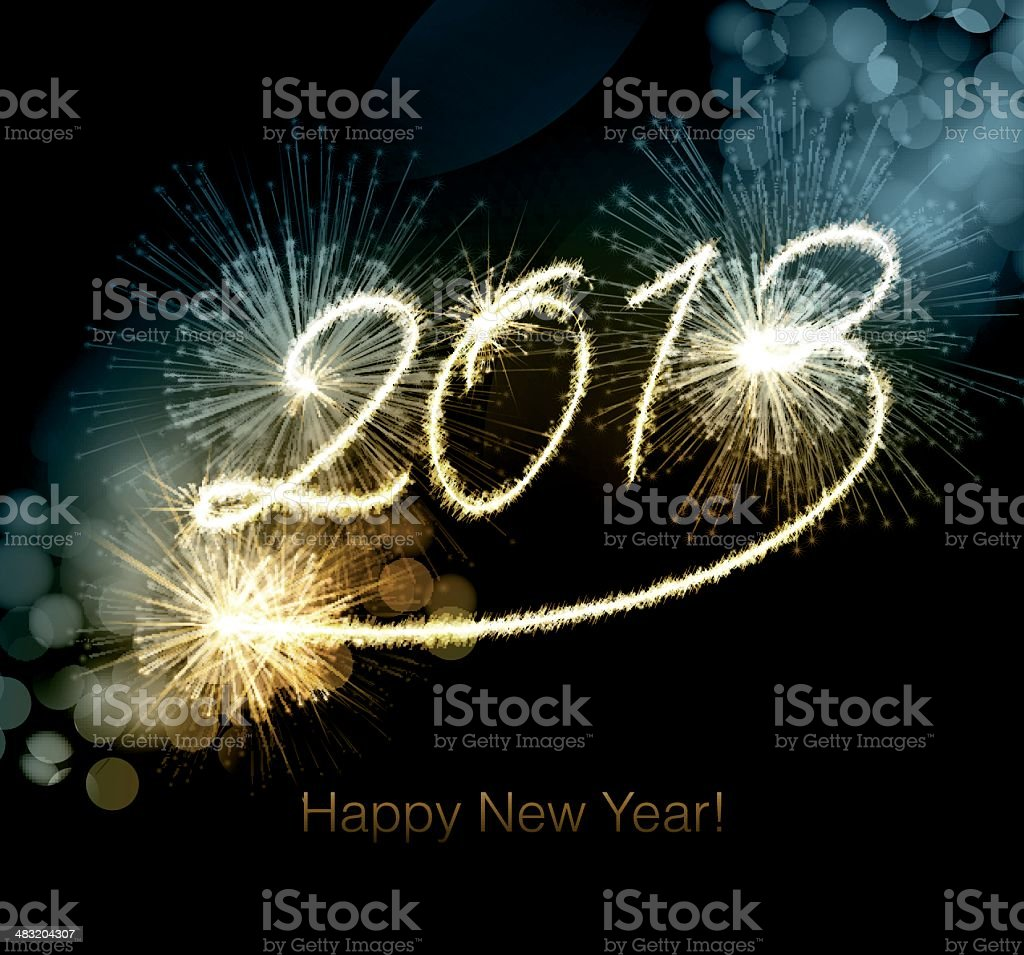 Happy New Year 2013 background royalty-free stock vector art