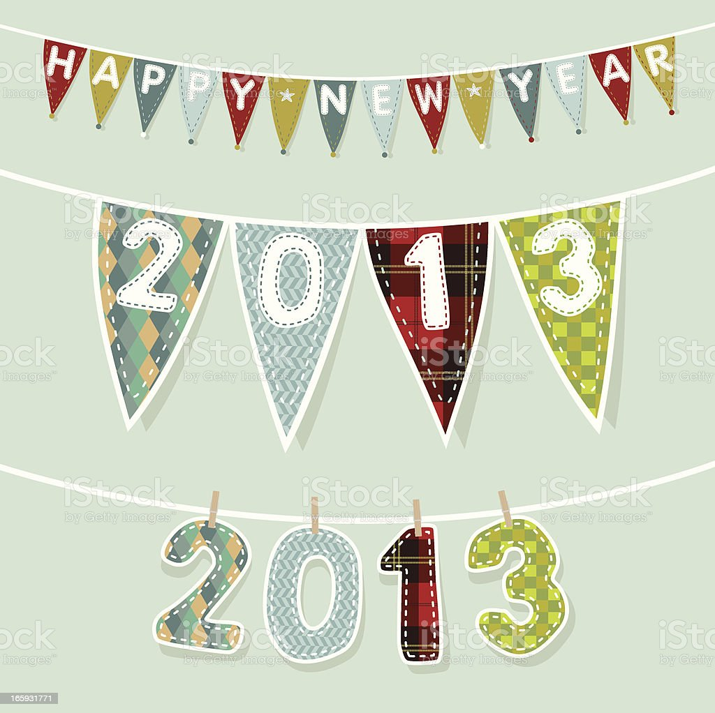 Happy New year 2013 banner vector art illustration