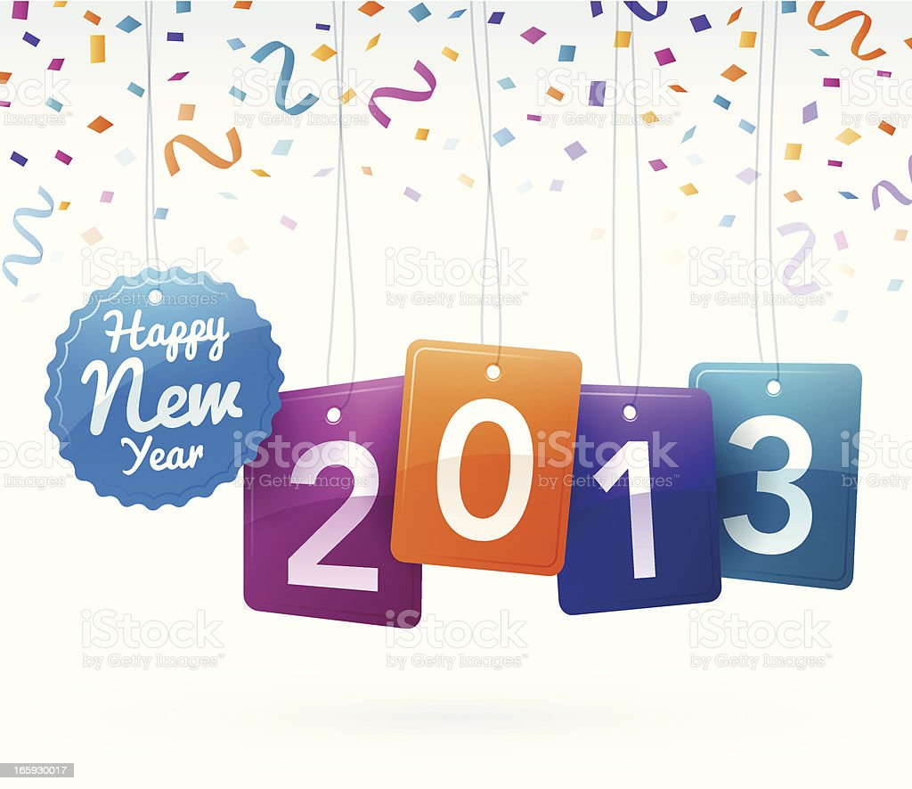 Happy New Year 2013 royalty-free stock vector art