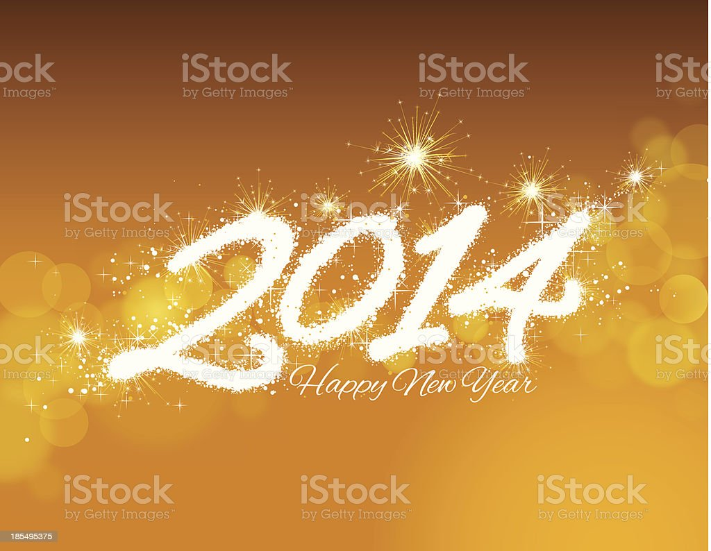 Happy New Year 2014 background royalty-free stock vector art