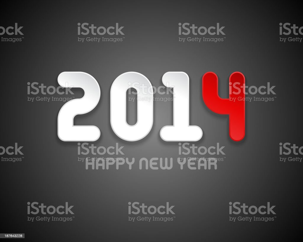 Happy new year - 2014 design royalty-free stock vector art