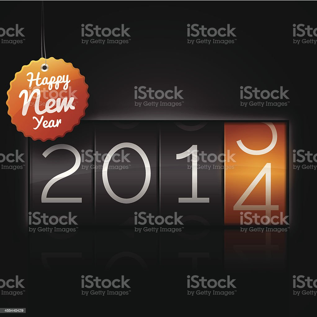 Happy New Year 2014 royalty-free stock vector art