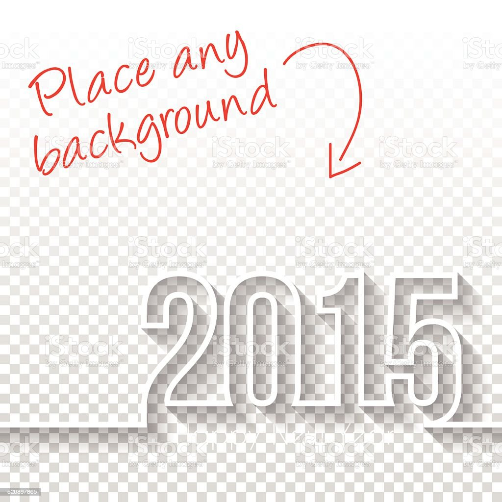 Happy New Year 2015 Design - Blank Backgroung vector art illustration