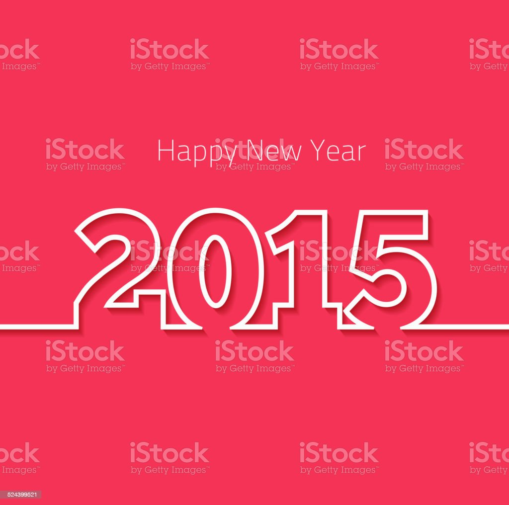 Happy New Year 2015 design vector art illustration