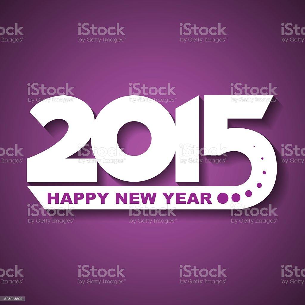 Happy New Year 2015 Greeting Card Stock Vector Art 528243509 Istock