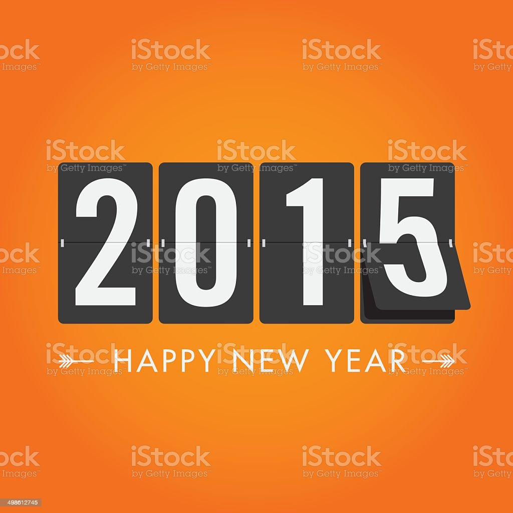 Happy new year 2015 vector art illustration