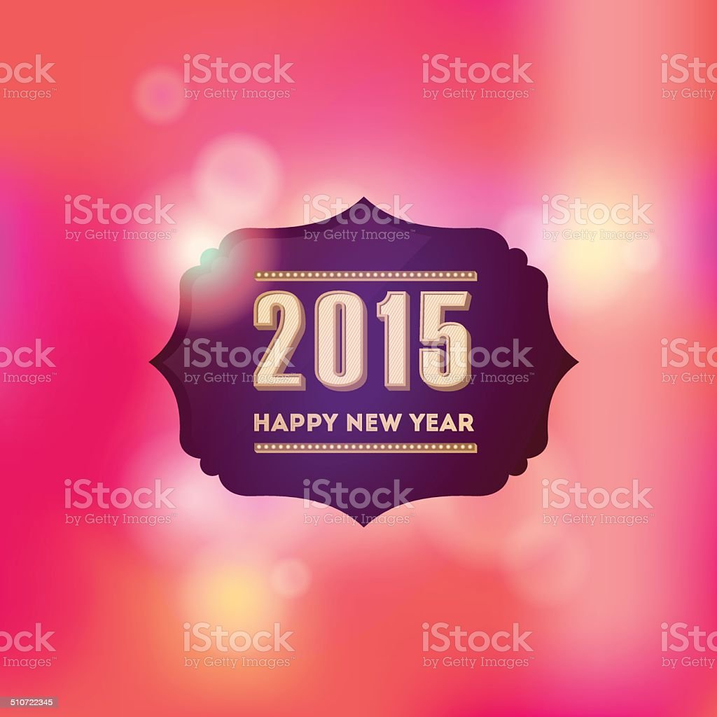 Happy new year 2015 vintage greeting card vector design stock vector happy new year 2015 vintage greeting card vector design royalty free stock vector art m4hsunfo