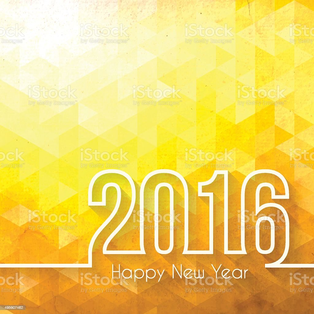 happy new year 2016 - Abstract Geometric Background vector art illustration