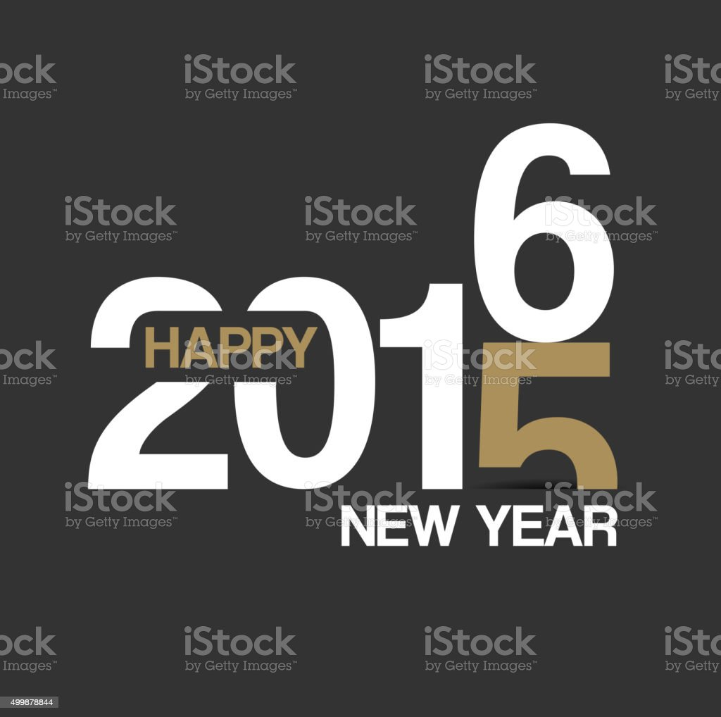 Happy New Year 2016 Background for your Christmas vector art illustration