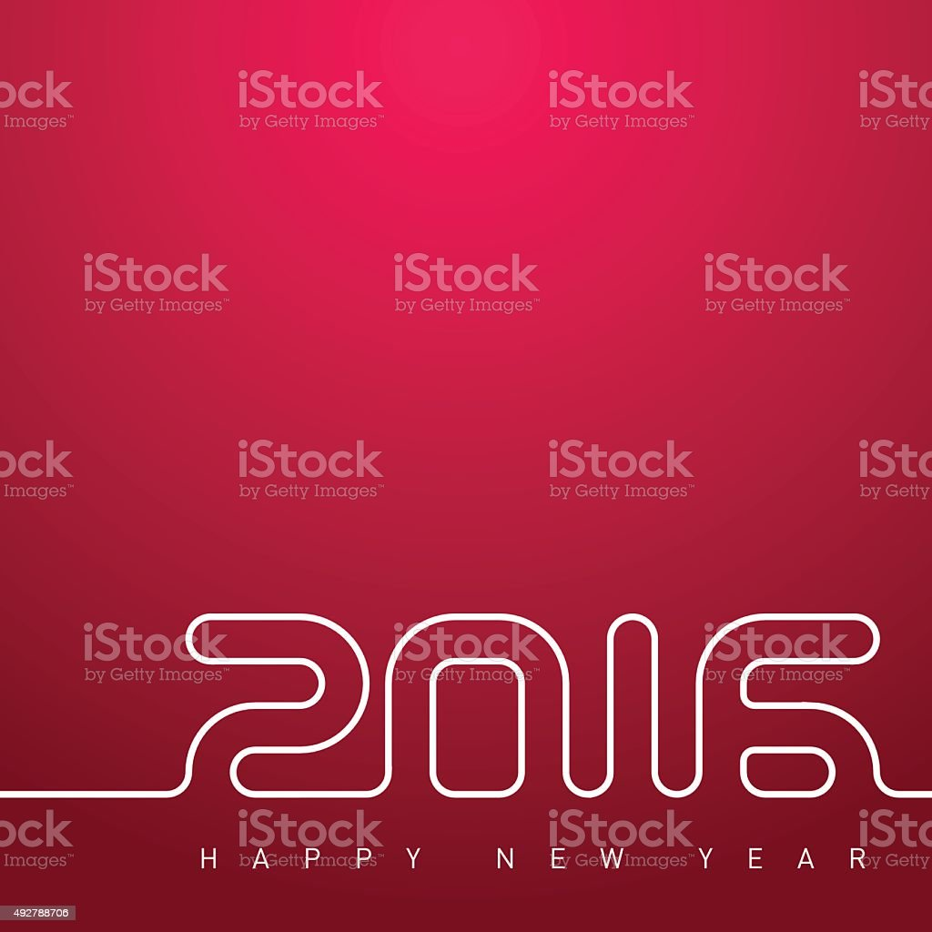 Happy new year 2016. Creative greeting card design template. vector art illustration