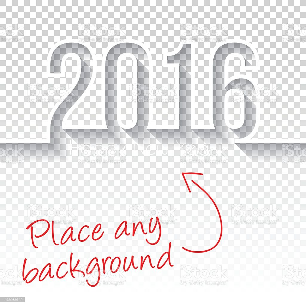 happy new year 2016 Design - Blank Backgroung vector art illustration