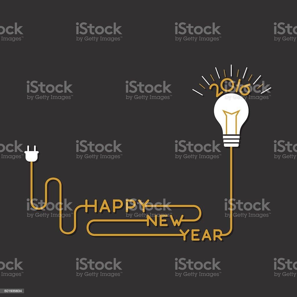 happy new year 2016 design vector art illustration