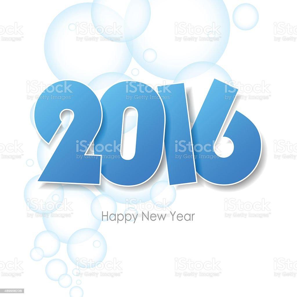 Frohes Neues Jahr 2016 Begrüßungkreditkarte Erfolgen Wasser Blasen ...