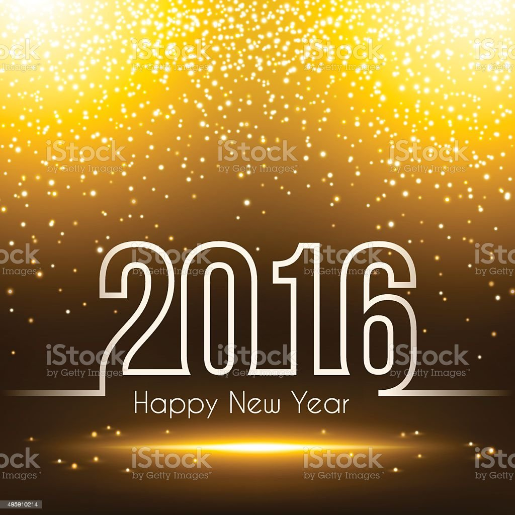 happy new year 2016 - Sparkly Background vector art illustration