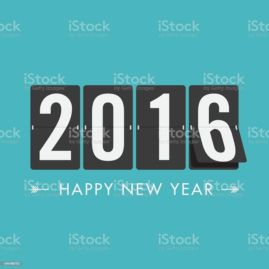 Happy new year 2016 timetable vector art illustration