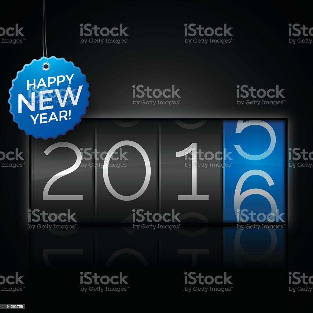 Happy New Year 2016 vector art illustration