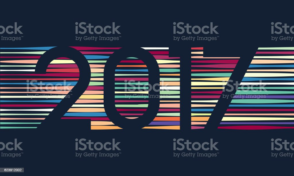 Happy New Year 2017 background. Calendar decoration. Greeting card. Chinese vector art illustration