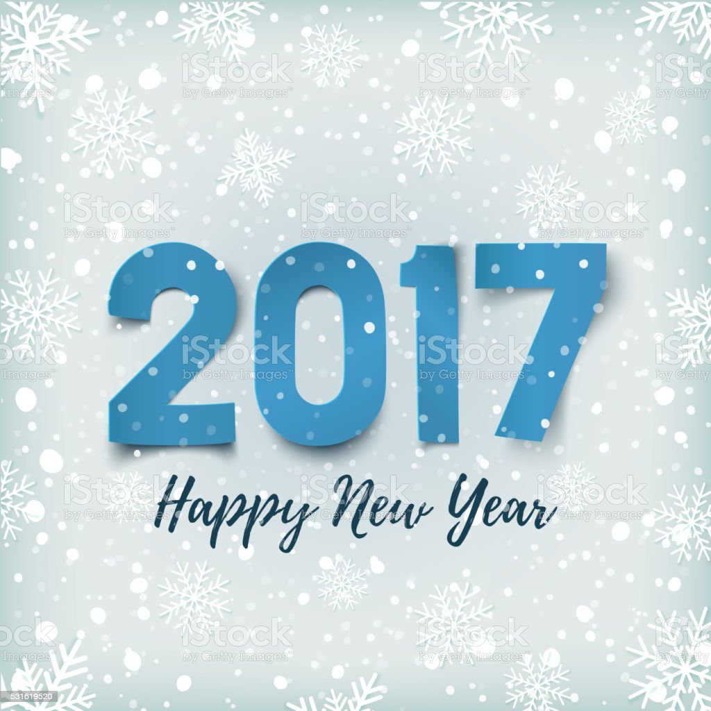 Happy New Year 2017 background. vector art illustration