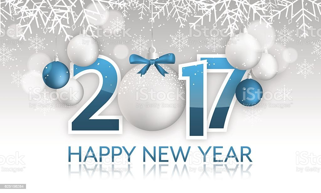 Happy New Year 2017 banner. vector art illustration