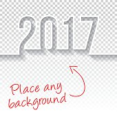 happy new year 2017 Design - Blank Backgroung