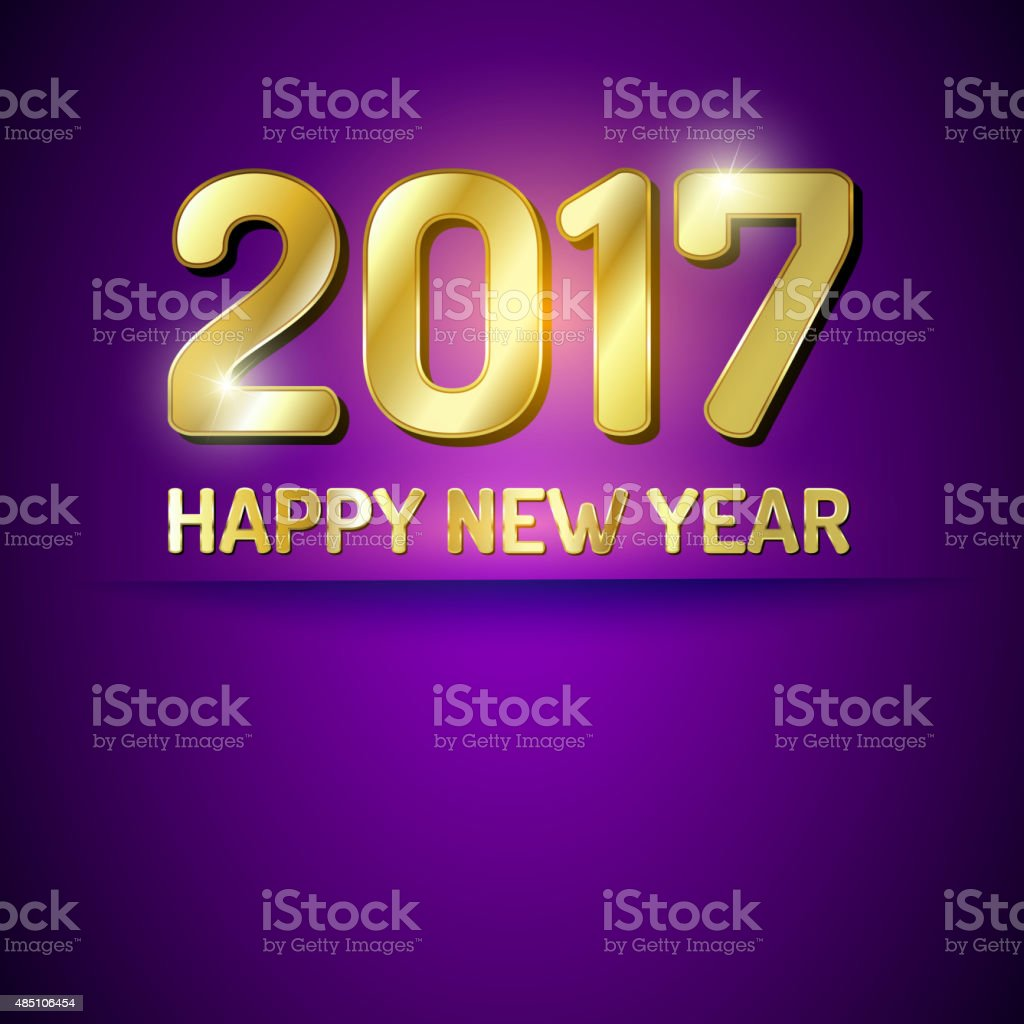 Happy New Year 2017 greetings card vector art illustration