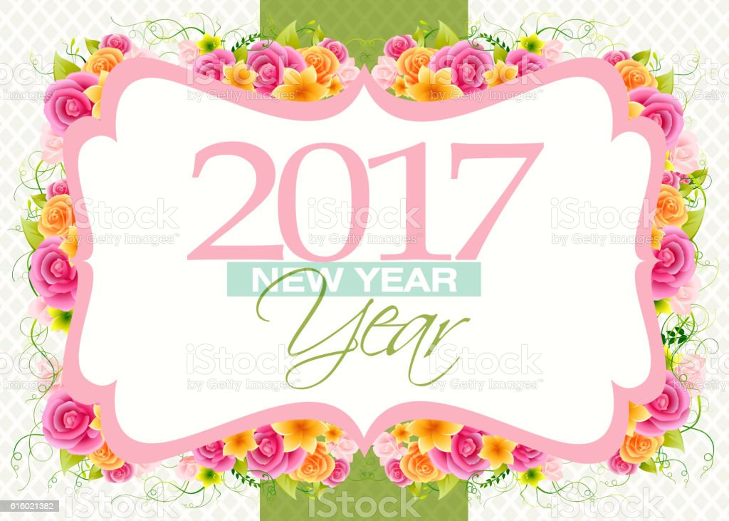 Happy New Year 2017 Greetings vector art illustration