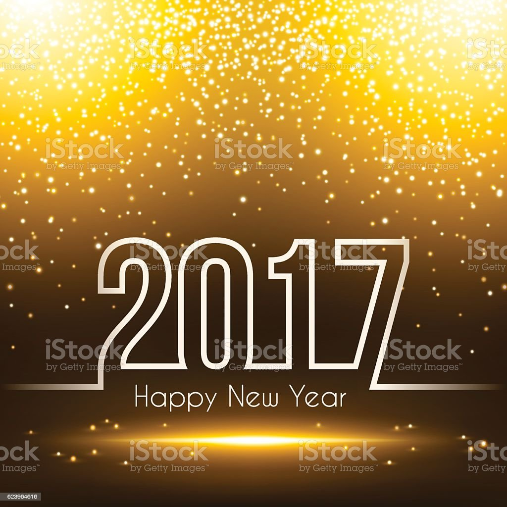 happy new year 2017 - Sparkly Background vector art illustration