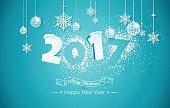 Happy new year 2017 Text Design.