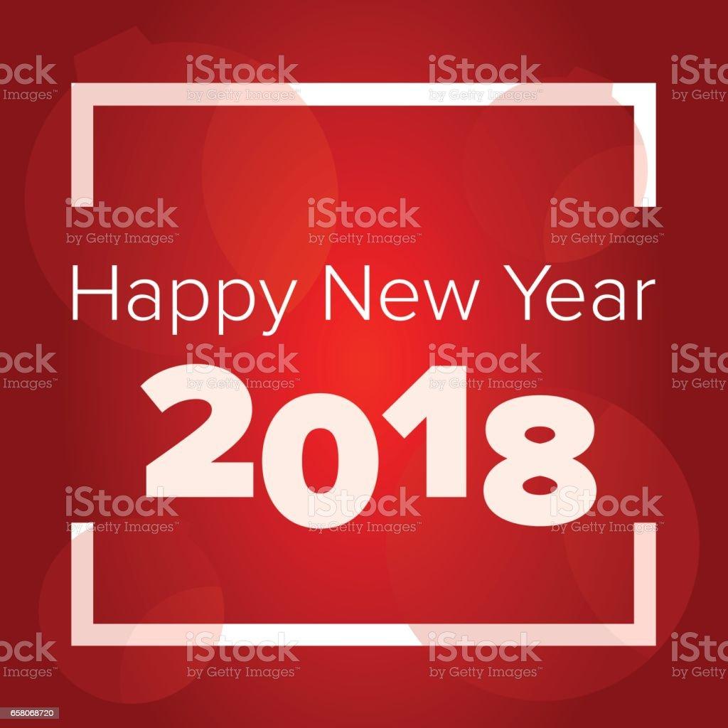 Happy new year 2018 vector art illustration