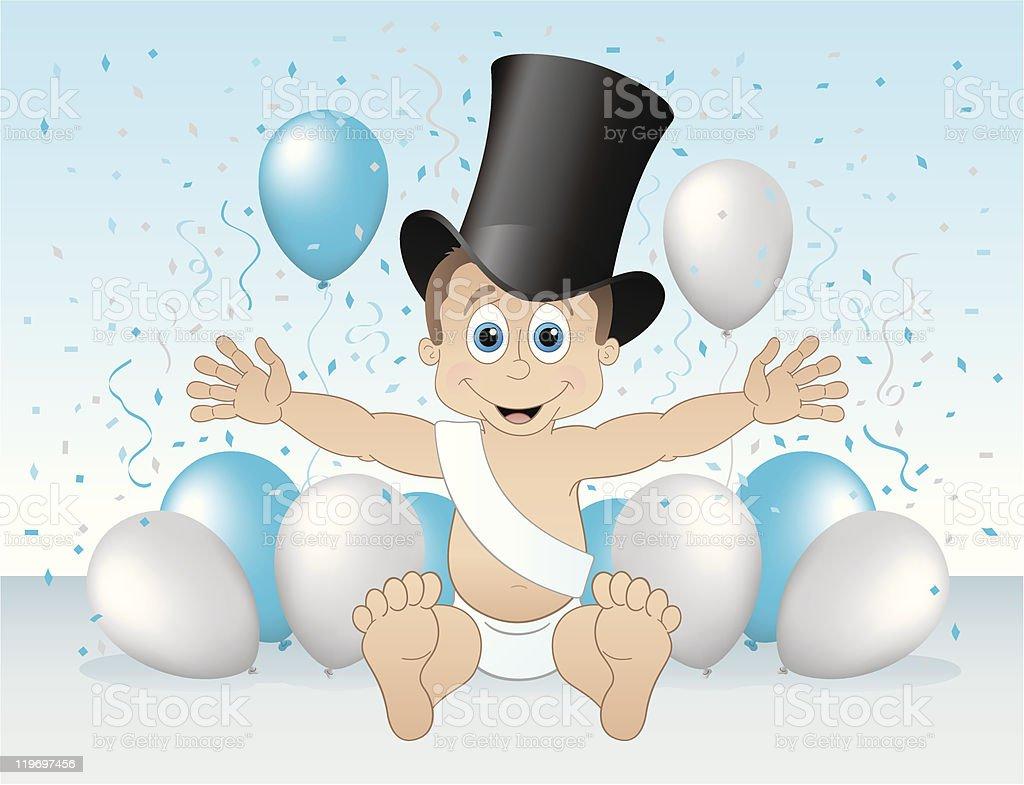 Happy New Year baby royalty-free stock vector art