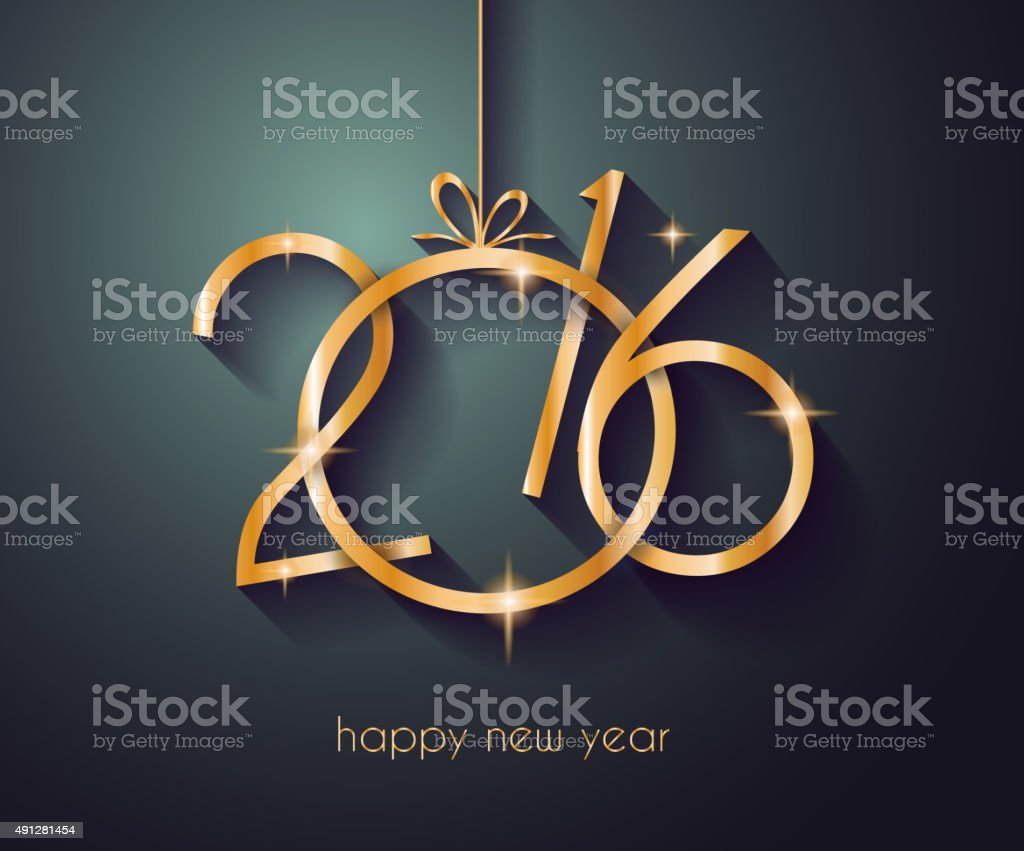 2016 Happy New Year Background for your Christmas vector art illustration