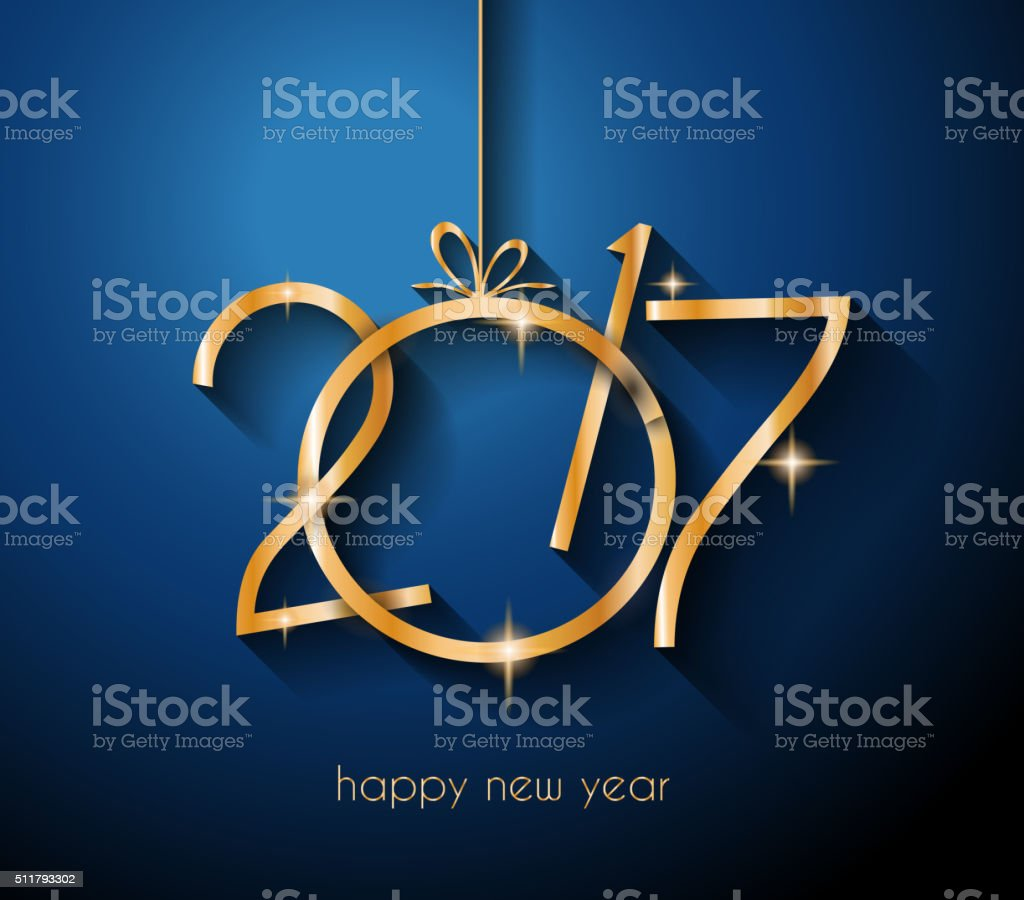2017 Happy New Year Background for your Flyers vector art illustration