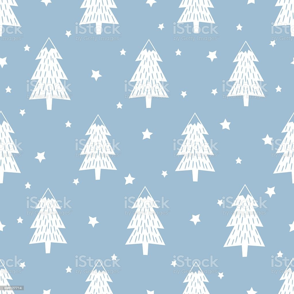 Happy New Year background. Simple seamless retro Christmas pattern vector art illustration